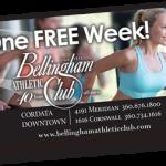 Bellingham Athletic Club One Week Free Pass