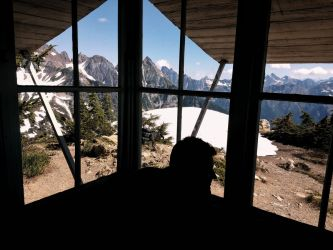 My adventure this summer at the Winchester Mountain Lookout in Mount Baker Snoqualmie Forest. - Sanae Kato