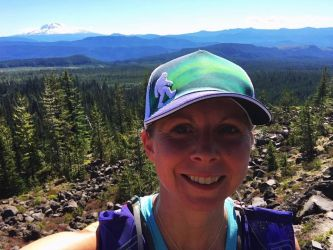 Staying in shape at BAC gave me the confidence to enter a race (Bigfoot 45) and circumnavigate Mt. Saint Helens this summer!  It took me 13 hours and 53 minutes.  This is a selfie I took during the first half of the race.  Thank you BAC! - Kelly McCuistion